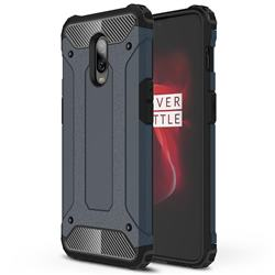King Kong Armor Premium Shockproof Dual Layer Rugged Hard Cover for OnePlus 6T - Navy