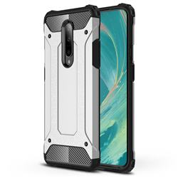King Kong Armor Premium Shockproof Dual Layer Rugged Hard Cover for OnePlus 7 - White