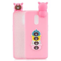 Expression Bear Soft 3D Climbing Doll Soft Case for OnePlus 7