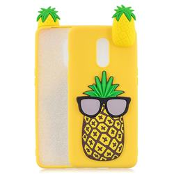 Big Pineapple Soft 3D Climbing Doll Soft Case for OnePlus 7