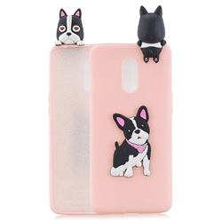 Cute Dog Soft 3D Climbing Doll Soft Case for OnePlus 7