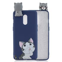 Big Face Cat Soft 3D Climbing Doll Soft Case for OnePlus 7