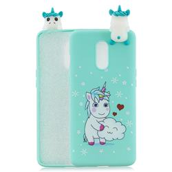 Heart Unicorn Soft 3D Climbing Doll Soft Case for OnePlus 7