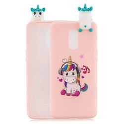 Music Unicorn Soft 3D Climbing Doll Soft Case for OnePlus 7