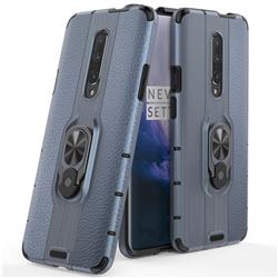 Alita Battle Angel Armor Metal Ring Grip Shockproof Dual Layer Rugged Hard Cover for OnePlus 7 - Blue