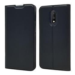 Ultra Slim Card Magnetic Automatic Suction Leather Wallet Case for OnePlus 7 - Star Grey