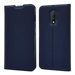 Ultra Slim Card Magnetic Automatic Suction Leather Wallet Case for OnePlus 7 - Royal Blue