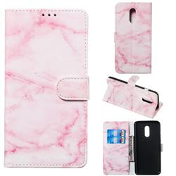 Pink Marble PU Leather Wallet Case for OnePlus 7