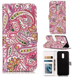 Pepper Flowers 3D Relief Oil PU Leather Wallet Case for OnePlus 7