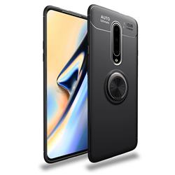 Auto Focus Invisible Ring Holder Soft Phone Case for OnePlus 7 Pro - Black