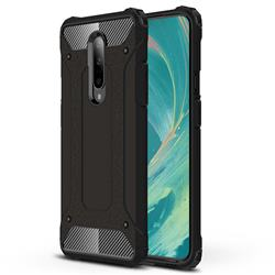 King Kong Armor Premium Shockproof Dual Layer Rugged Hard Cover for OnePlus 7 Pro - Black Gold