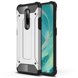 King Kong Armor Premium Shockproof Dual Layer Rugged Hard Cover for OnePlus 7 Pro - White