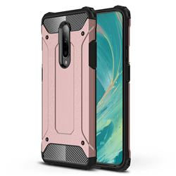 King Kong Armor Premium Shockproof Dual Layer Rugged Hard Cover for OnePlus 7 Pro - Rose Gold