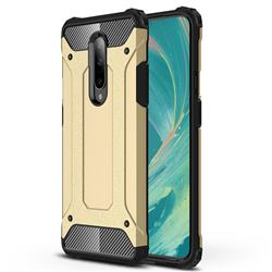 King Kong Armor Premium Shockproof Dual Layer Rugged Hard Cover for OnePlus 7 Pro - Champagne Gold