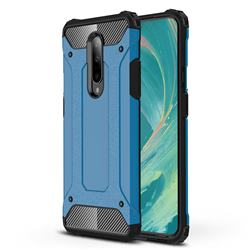 King Kong Armor Premium Shockproof Dual Layer Rugged Hard Cover for OnePlus 7 Pro - Sky Blue
