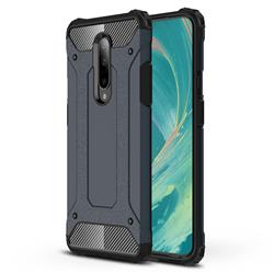 King Kong Armor Premium Shockproof Dual Layer Rugged Hard Cover for OnePlus 7 Pro - Navy