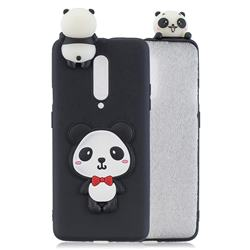 Red Bow Panda Soft 3D Climbing Doll Soft Case for OnePlus 7 Pro