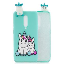Couple Unicorn Soft 3D Climbing Doll Soft Case for OnePlus 7 Pro