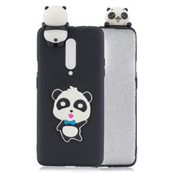 Blue Bow Panda Soft 3D Climbing Doll Soft Case for OnePlus 7 Pro