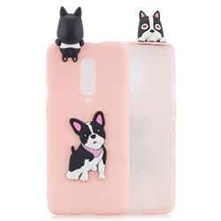 Cute Dog Soft 3D Climbing Doll Soft Case for OnePlus 7 Pro