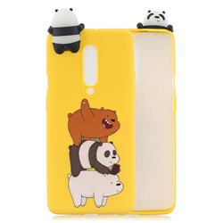 Striped Bear Soft 3D Climbing Doll Soft Case for OnePlus 7 Pro