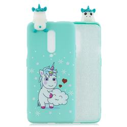 Heart Unicorn Soft 3D Climbing Doll Soft Case for OnePlus 7 Pro