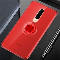 Anti-fall Invisible Press Bounce Ring Holder Phone Cover for OnePlus 7 Pro - Noble Red