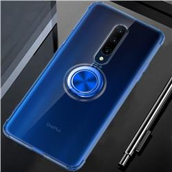 Anti-fall Invisible Press Bounce Ring Holder Phone Cover for OnePlus 7 Pro - Sapphire Blue