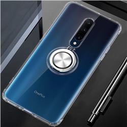Anti-fall Invisible Press Bounce Ring Holder Phone Cover for OnePlus 7 Pro - Transparent