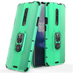Alita Battle Angel Armor Metal Ring Grip Shockproof Dual Layer Rugged Hard Cover for OnePlus 7 Pro - Green