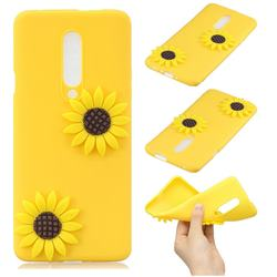 Yellow Sunflower Soft 3D Silicone Case for OnePlus 7 Pro