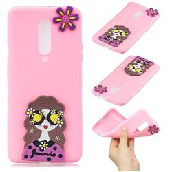 Violet Girl Soft 3D Silicone Case for OnePlus 7 Pro