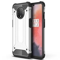 King Kong Armor Premium Shockproof Dual Layer Rugged Hard Cover for OnePlus 7T - White