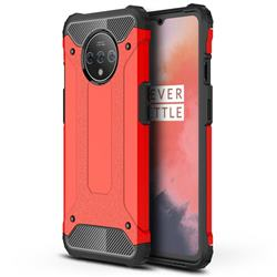 King Kong Armor Premium Shockproof Dual Layer Rugged Hard Cover for OnePlus 7T - Big Red