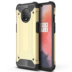King Kong Armor Premium Shockproof Dual Layer Rugged Hard Cover for OnePlus 7T - Champagne Gold