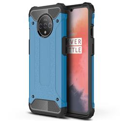 King Kong Armor Premium Shockproof Dual Layer Rugged Hard Cover for OnePlus 7T - Sky Blue