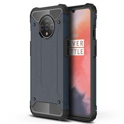 King Kong Armor Premium Shockproof Dual Layer Rugged Hard Cover for OnePlus 7T - Navy