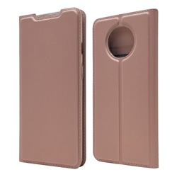 Ultra Slim Card Magnetic Automatic Suction Leather Wallet Case for OnePlus 7T - Rose Gold
