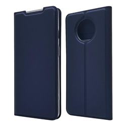 Ultra Slim Card Magnetic Automatic Suction Leather Wallet Case for OnePlus 7T - Royal Blue