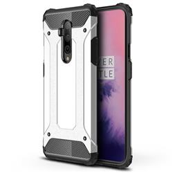 King Kong Armor Premium Shockproof Dual Layer Rugged Hard Cover for OnePlus 7T Pro - White