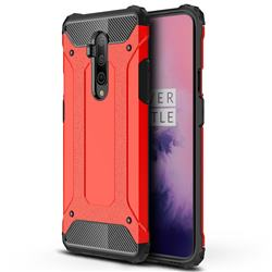 King Kong Armor Premium Shockproof Dual Layer Rugged Hard Cover for OnePlus 7T Pro - Big Red