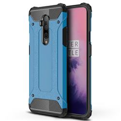 King Kong Armor Premium Shockproof Dual Layer Rugged Hard Cover for OnePlus 7T Pro - Sky Blue
