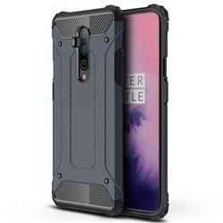 King Kong Armor Premium Shockproof Dual Layer Rugged Hard Cover for OnePlus 7T Pro - Navy