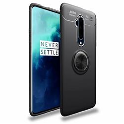 Auto Focus Invisible Ring Holder Soft Phone Case for OnePlus 7T Pro - Black