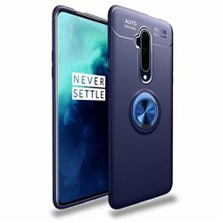 Auto Focus Invisible Ring Holder Soft Phone Case for OnePlus 7T Pro - Blue