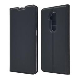 Ultra Slim Card Magnetic Automatic Suction Leather Wallet Case for OnePlus 7T Pro - Star Grey