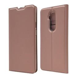 Ultra Slim Card Magnetic Automatic Suction Leather Wallet Case for OnePlus 7T Pro - Rose Gold