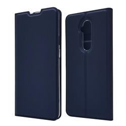 Ultra Slim Card Magnetic Automatic Suction Leather Wallet Case for OnePlus 7T Pro - Royal Blue
