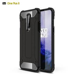 King Kong Armor Premium Shockproof Dual Layer Rugged Hard Cover for OnePlus 8 - Black Gold