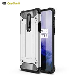 King Kong Armor Premium Shockproof Dual Layer Rugged Hard Cover for OnePlus 8 - White